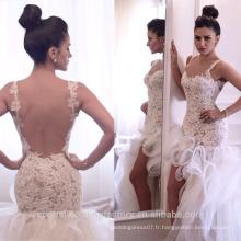 Robe de mariée en dentelle Robe de mariée Taille personnalisée Mermaid Robe de mariée en dentelle à bas prix à bas prix MW2551