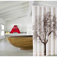 Guangzhou 100% polyester peva bath shower curtain