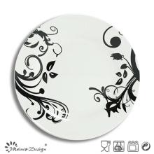 Placa de cena completa de la porcelana blanca por mayor