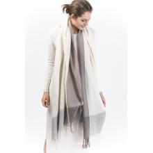 Brcwe-100% Yarn Dye Cashmere Ladies Bufanda