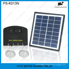 4W 11V Solar Panel Solar Home Light System with 2 Lights Phone Charger Function