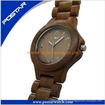 Relógios de madeira da fábrica relógio de quartzo esporte