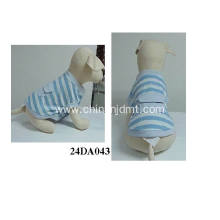 Blue and white stripe pet clothes