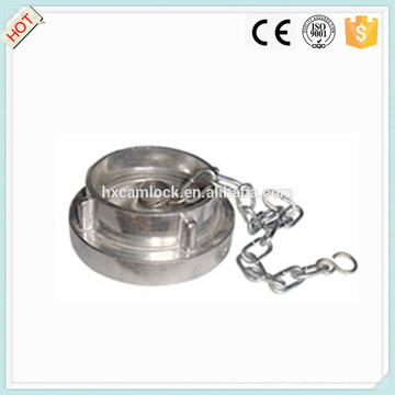 stainless steel, brass, aluminum Storz coupling blank cap with chain