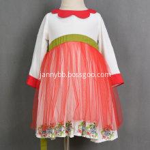 Boutique Christmas Viscose Mesh Baby Girl Dresses