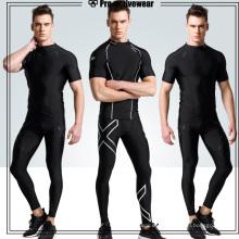 Venta al por mayor Deportes compresión gimnasia gimnasio pantalones para hombres