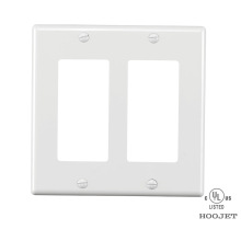 Quality for Decorative Screwless Wall Plate GFCI Rocker Outlet Covers  White With Screws export to Zambia Importers