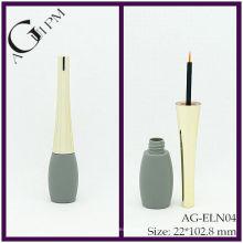 Plástico especial forma delineador tubo/Eyeliner recipiente AG-ELN04, embalagens de cosméticos do AGPM, cores/logotipo personalizado