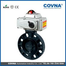 Hot sale PVC electrical butterfly valves with actuator control valve made in china