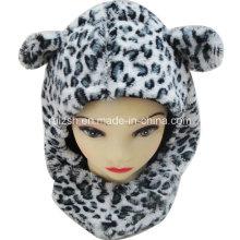 Kinder Leopard Cubs Hut Schal Kopfbedeckung integriert