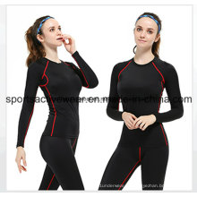 Hot Seling Custom Sports Fitness Активный Lycra Хлопок сжатия одежды для женщин