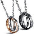18k gold plated crystal round pendant necklace for women friends stainless steel pendants