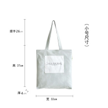 Custom double shoulder canvas bag slant cross package