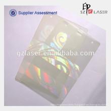 Custom pet material hologram overlay for id card