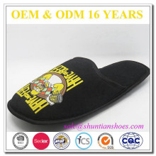 Printed jersey indoor mens home soft slipper