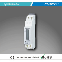 1p Single Phase 2 Wire Programmable LCD DIN Rail Kwh Meter/Electric Energy Meter with Electronic Energy Pulse