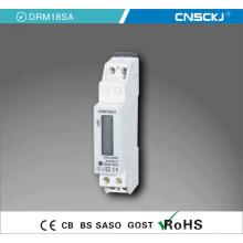 Medidor montado da energia de Digitas do trilho do RUÍDO do painel 1p / 4p do Kwh do LCD da fase monofásica