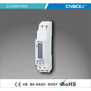Medidor da energia da CC da fase monofásica 60V do trilho do RUÍDO de 1p
