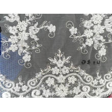 Mesh Fabric with Bead Embroidered W5471