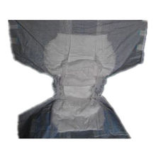 Disposable adult diaper with yellow wetness indictor