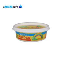 plastic food container for margarine ice cream