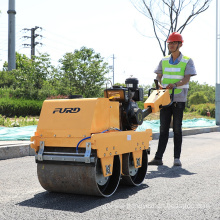 Easy to operate hand push mini double drum road roller for sale FYLJ-S600C
