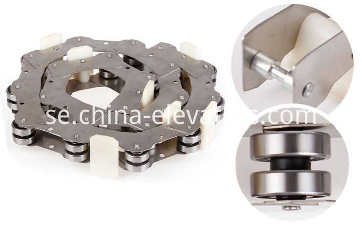 Rotating Chain for Fujitec Public Transit Escalator 17 pcs / 19pcs rollers