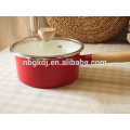 easy-clean printed enamel milk cooking pot