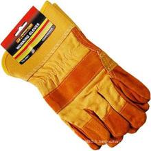 Travail de mécanicien de travail / gants de travail Protection de paume de doigt industrielle