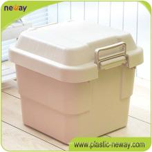 Caixa de armazenamento de plástico barato estoque pesado com divisores e ferramenta