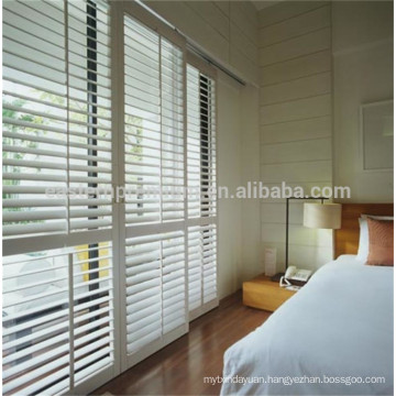 pvc window plantation shutter hidden tilt rod