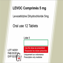 Antihistaminika Levocetirizin Dihydrochlorid Tabletten