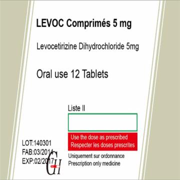 Antihistamínicos Levocetirizine Dihydrochloride Tablets