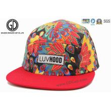 2015 mejor venta de moda colorida Paisley algodón Snapback Camper Cap