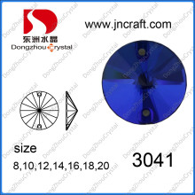 Piedra redonda de vidrio plano para coser la prenda (DZ-3041)