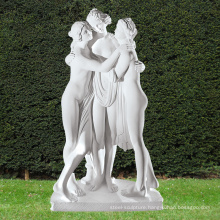 New design the three graces Marble Statue with great price