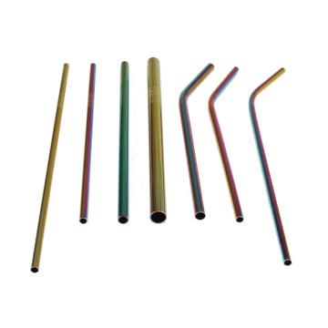 Palhas de aço inoxidável do arco-íris do produto comestível novo do projeto