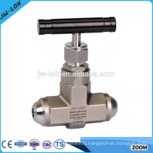 Hydraulic high pressure needle valve