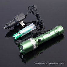 Lampe torche LED rechargeable avec Ce, RoHS, MSDS, ISO, SGS