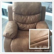 Condiciones de servidumbre 3 capas poliéster cuero sofá tela gruesa