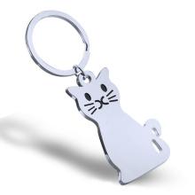 Модная цепочка для ключей в форме металлической кошки