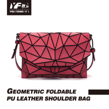 Bolsa geométrica casual feminina bolsa de ombro bolsa