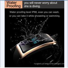 Relógio inteligente com Monitor de Coração À Prova D 'Água USB-Integrado Wechat Interconexão Monitor de Freqüência Cardíaca A Monitoração de Sono do Bluetooth Super-Longa Standy