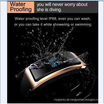 Smart Watch mit Herzmonitor Wasserdicht Integrierter USB WeChat Interconnection Pulsmesser Der Bluetooth Schlafmonitor Super - Long Standy