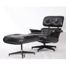YADEA PV021-1-D Eames Lounge stol Replica All Black Edition