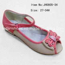Chaussures populaires de tête de poisson pour enfants Chaussures simples Chaussures plates (FF0808-34)