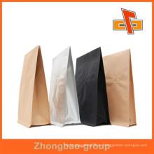 Fabricante de Guangzhou resistente a la humedad stand up papel de aluminio bolsa de papel para el embalaje de café en grano