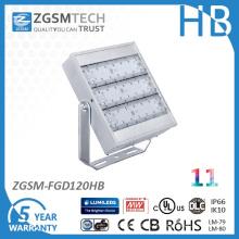 Luz de inundação de LED de 120W listada na UL