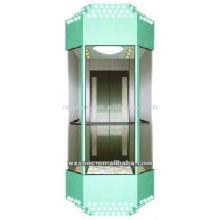 beautiful decorated SANYO panoramic elevator