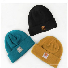 High Quality Woven Label Knitted Beanie